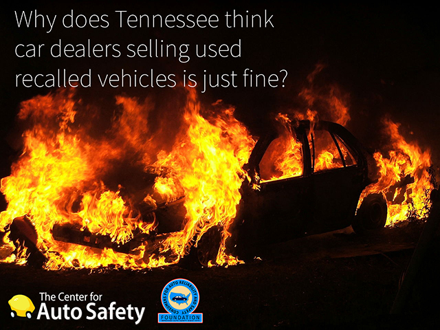 Auto Dealers Sell Rent Loan Unsafe Recalled Used Cars